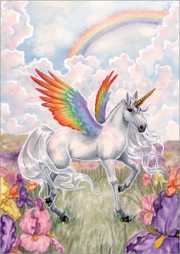 Poster rainbow wings