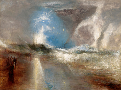 Joseph Mallord William Turner - Rockets and blue lights warn steamboats before shallows