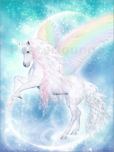 Dolphins DreamDesign - Rainbow Unicorn Pegasus