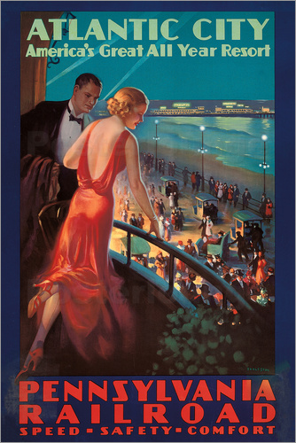 Edward Mason Eggleston - Travel to Atlantic City with the Pennsylvania Railroad