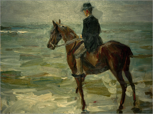 Max Liebermann - Rider Along Sea