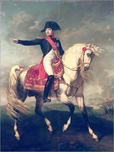 Joseph chabord equestrian portrait of napoleon i poster for Napoleon horse painting