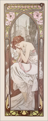 Alfons Mucha - Night's Rest, Times of the Day series