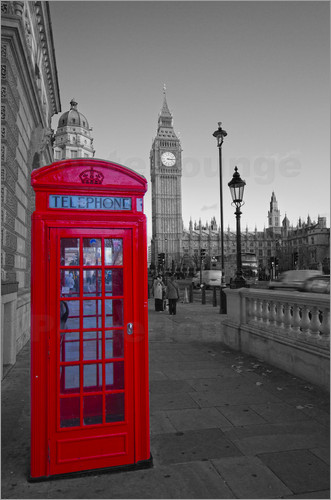 David French - Red Telephone Box and Big Ben