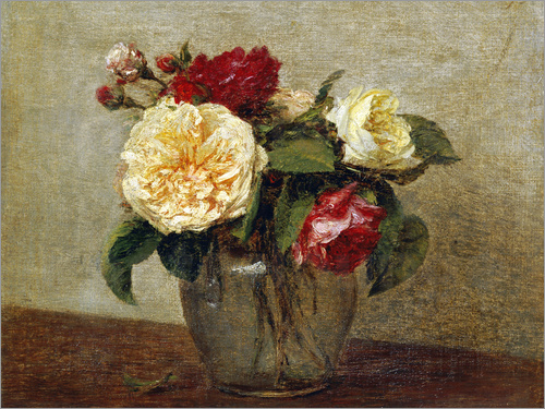 Henri de Fantin-Latour - Red and Yellow Roses
