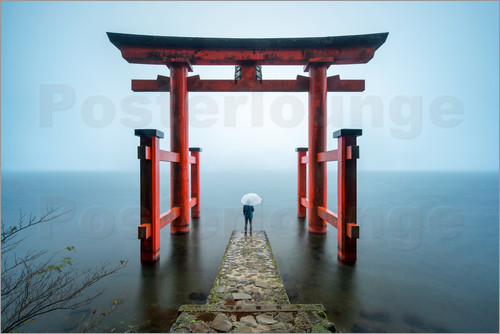 eyetronic - Red Gate in Hakone Shinto shrine in Japan
