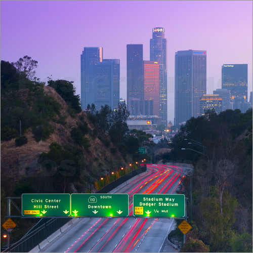 Poster Route 110, Los Angeles, California, United States