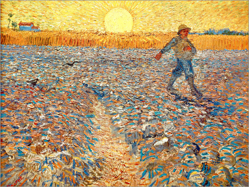Poster Sower at Sunset