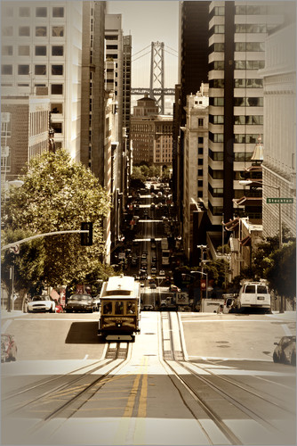 Poster SAN FRANCISCO California Street