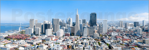 Poster San Francisco skyline in summer