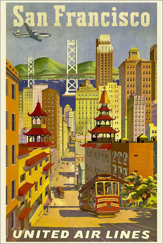 Poster San Francisco United Airlines
