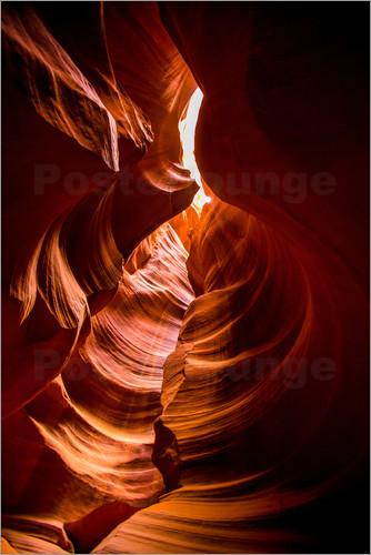 Laura Grier - Sandstone sculpted walls, Upper Antelope Canyon, Arizona, United States of America, North America