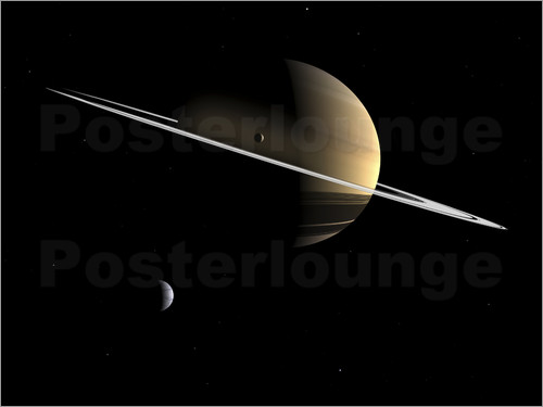 Walter Myers - Saturn and its moons Dione and Tethys