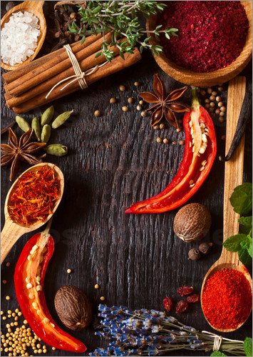hot spices and herbs