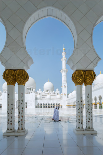 Poster Sheik Zayed Grand Mosque, Adu Dhabi, Emirates