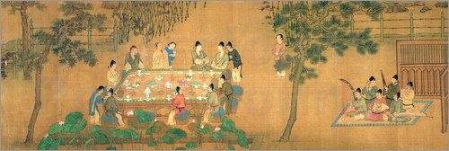 Poster Scholars' Gathering in a Bamboo Garden