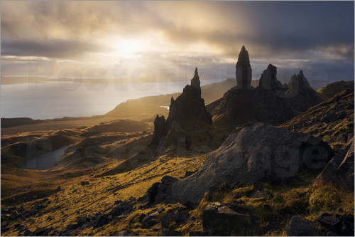 Poster Scotland - Isle of Skye - Old Man of Storr