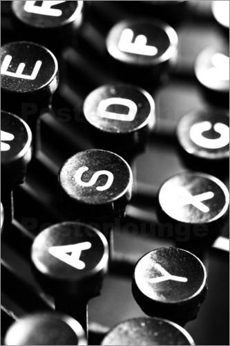 Poster Typewriter keys