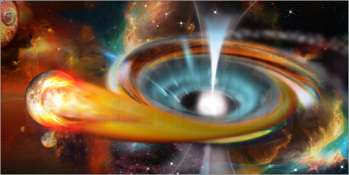 Kalle60 - Black hole with Pulsar, universe, galaxy