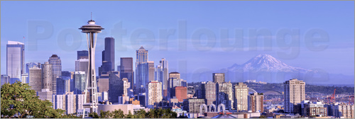 Poster Seattle skyline from Kerry Park