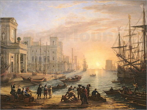 Claude Lorrain - Sea Port at Sunset