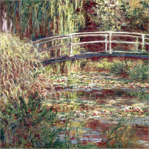 Claude Monet - Waterlily Pond: Pink Harmony