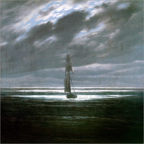 Poster Seascape in the Moonlight