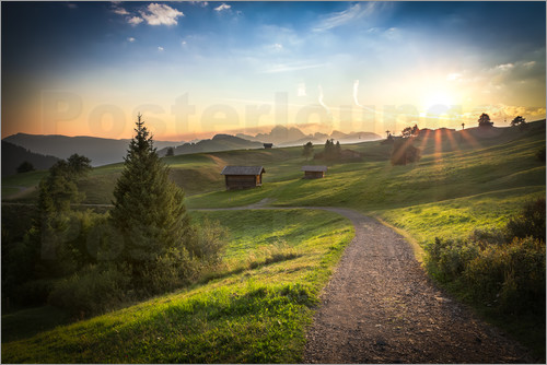 Frank Fischbach - Seiser Alm in the morning, South Tyrol