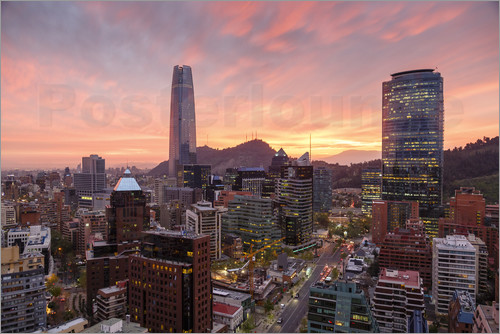 Yadid Levy - Skyline of Santiago with the Gran Torre, Santiago, Chile, South America