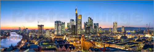 Poster Skyline panorama from Frankfurt