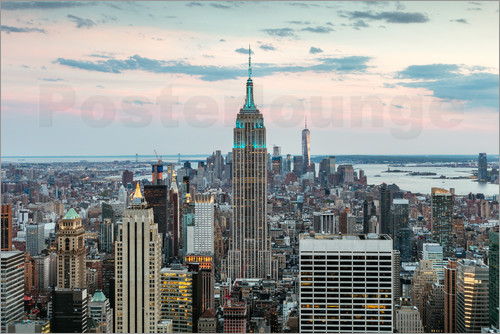 Matteo Colombo - Manhattan skyline with Empire State building at sunset, New York city, USA