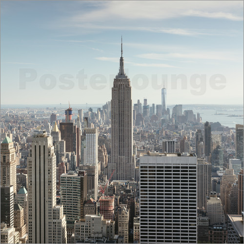 matteo colombo manhattan skyline with empire state building new york city usa poster. Black Bedroom Furniture Sets. Home Design Ideas
