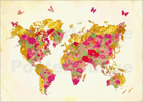Mandy Reinmuth - Summer World Map