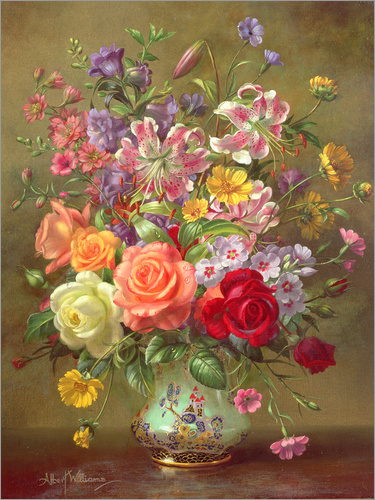 Albert Williams - A Summer Floral Arrangement