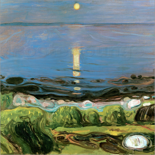 Edvard Munch - Summer Night on the Beach