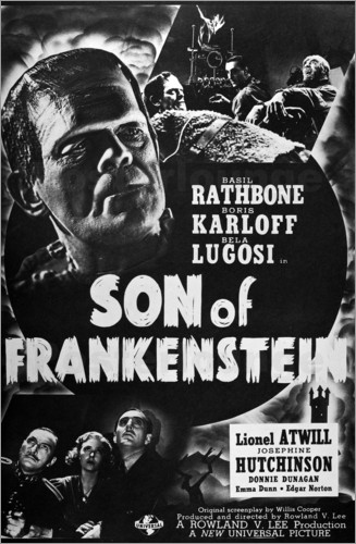 Poster Son Of Frankenstein, 1939.