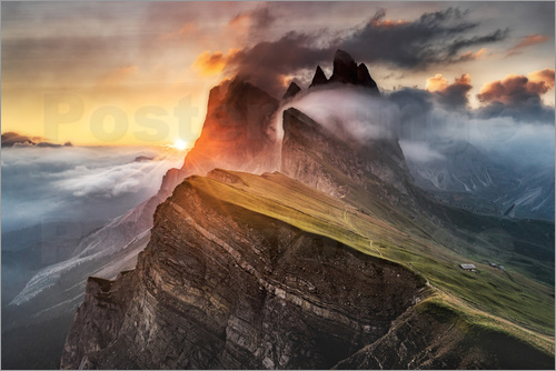 Andreas Wonisch - Sunrise in the Dolomites at Seceda