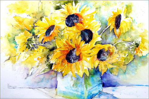 Poster Sunflowers in Vase