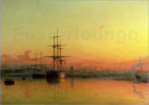 Francis Danby - Dead Calm - Sunset at the Bight of Exmouth
