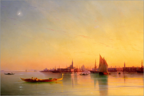 Ivan Konstantinovich Aivazovsky - Venice from the Lagoon at Sunset