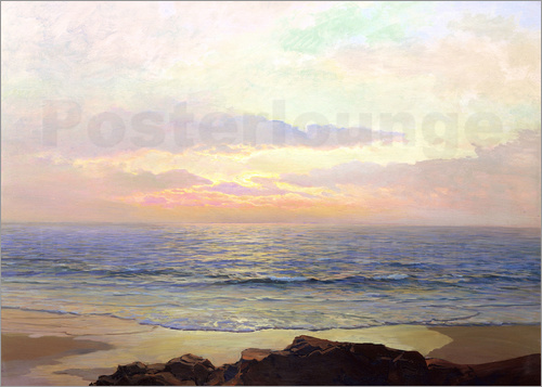Frederick Judd Waugh - Sunset over the sea.