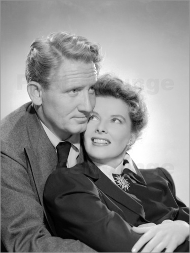 Poster Spencer Tracy and Katharine Hepburn