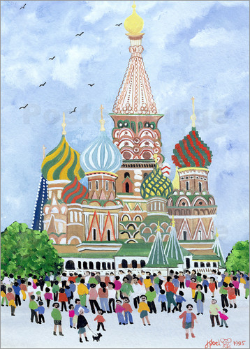 Poster St. Basil's Cathedral, Red Square, 1995