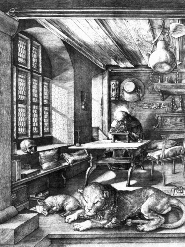 Albrecht Dürer - St. Jerome in his Study