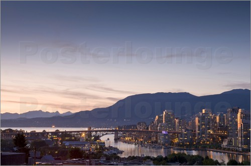 Poster Cityscape of Vancouver