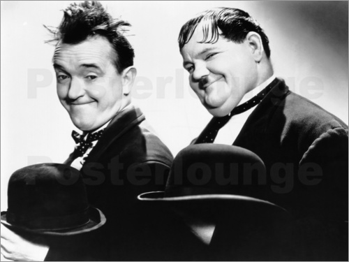 Poster Stan Laurel and Oliver Hardy