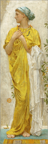 Albert Joseph Moore - Standing figure in yellow and blue, study for Topaz
