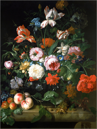 Rachel Ruysch - Still life with flowers and fruits. 1707