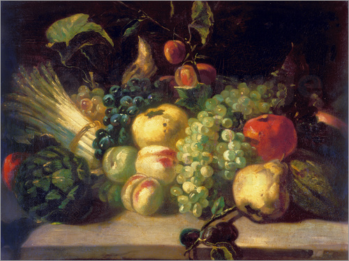 Theodore Gericault - Still life of fruit and vegetables