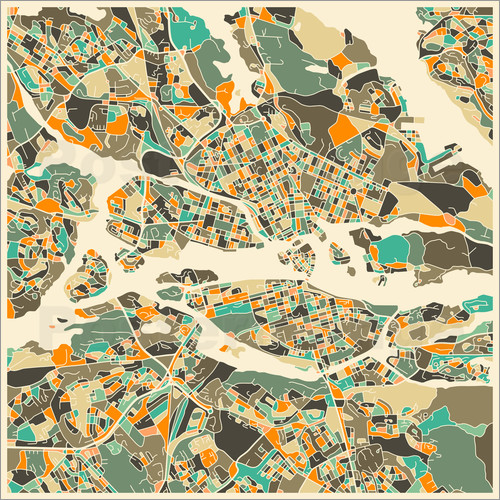 Jazzberry Blue - Stockholm Map